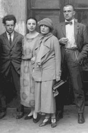 Eisenstein, Olga Tretiakova, Lili Brik y Maiakovski
