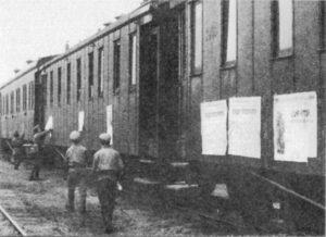 Tren militar móvil Lenin -carteles-