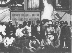 Grupo de artistas que decoró El Este Rojo