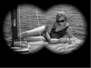Muestra de caché binocular