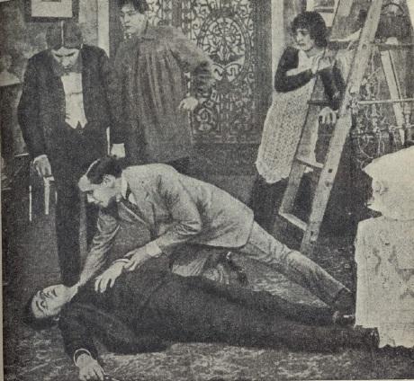 El asesinato de la bailarina Plameneva (1914).
