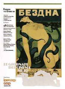 Cartel de las Jornadas de Cine Mudo de Pordenone de 1989.