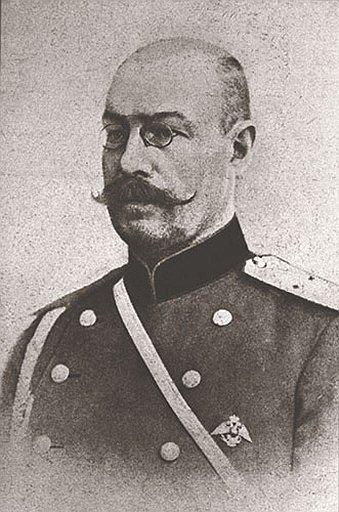 Imagen del auténtico Miasoedov, protagonista de varias películas en 1917