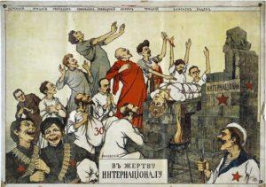 Víctima de la Internacional. Propaganda antibolchevique del OSVAG