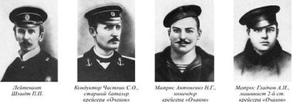 Los cuatro condenados a muerte: Schmidt, Chastnik, Antonenko y